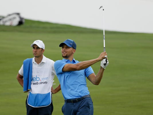 AP STEPHEN CURRY GOLF DEBUT S GLF BKN USA CA