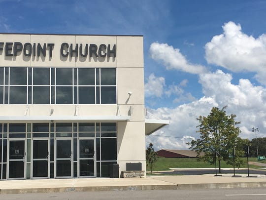 LifePoint Church is shown with the rooftop of the John Bartee 4-H Livestock Arena to the rear of it. Both properties are in line for possible annexation into the Clarksville city limits later this year.