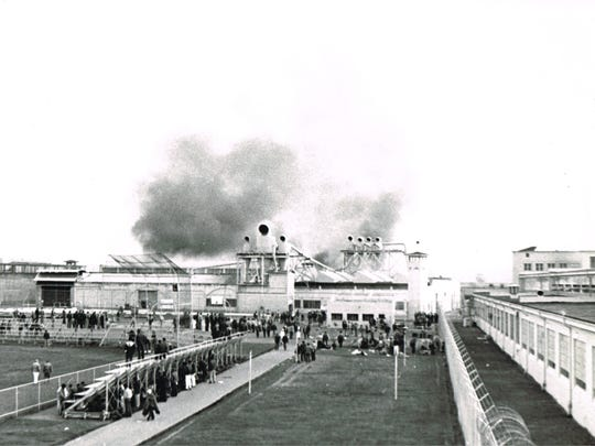 Smoke billows from the Oregon State Penitentiary on March 9, 1968, during the 15-hour riot. This photo was taken by Oregon Statesman photographer John Ericksen and was on the front page of the March 10 newspaper.