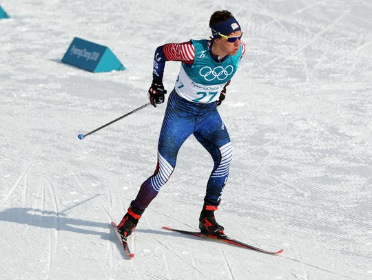 Scott Patterson (USA) competes during the mens cross