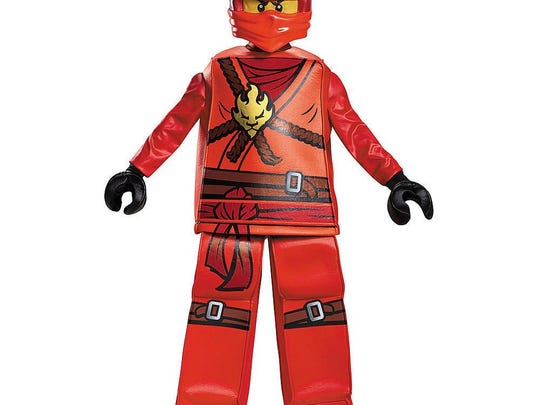 Become your favorite toy/TV character with the Lego Ninjago Kai prestige costume. $59.99 at Toys R Us.