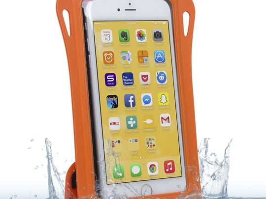 The GoMate Waterproof Smartphone Case can withstand water up to 20 feet deep.