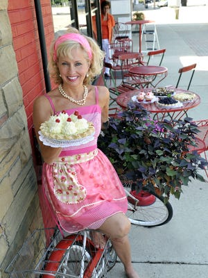 Linda Hundt at Sweetie-licious Bakery Cafe in downtown DeWitt.