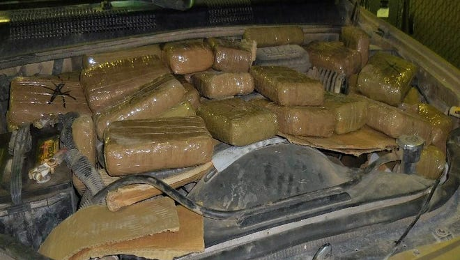 Officials say 275 pounds of marijuana was seized at the Douglas border crossing Wednesday.
