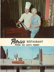 """An undated postcard toted that Petrie's was """"Famous"""