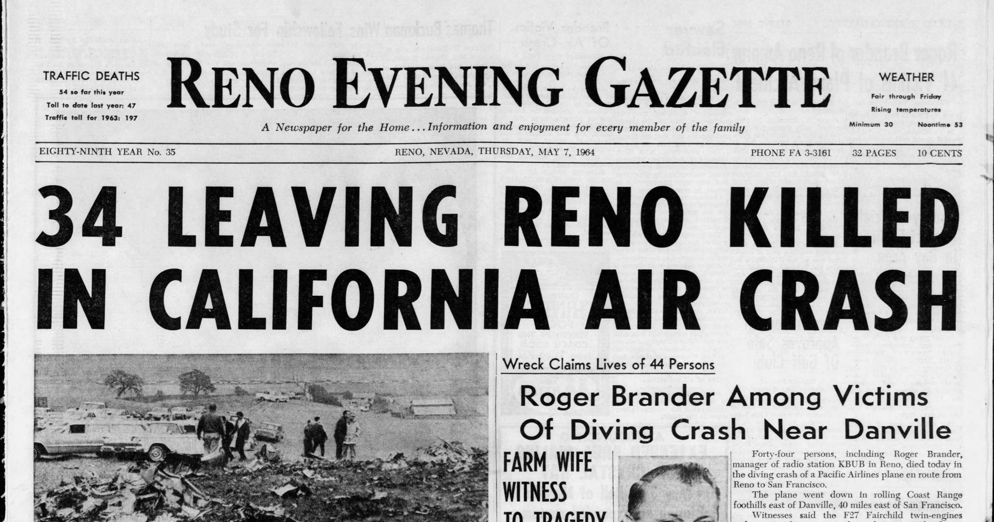 Breck: Reno's role in 1964 plane hijacking