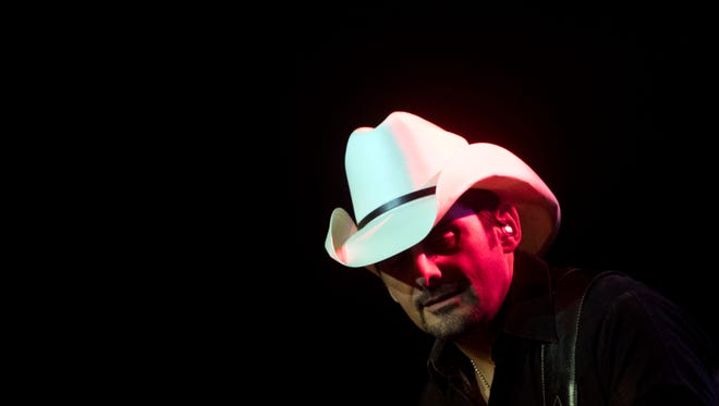 Brad Paisley performs at Thompson-Boling Arena with opening acts from Chase Bryant and Dustin Lynch on Thursday, February 22, 2018.