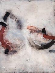 "Robert Treat, ""Double Vessel,"" 2016, encaustic and"