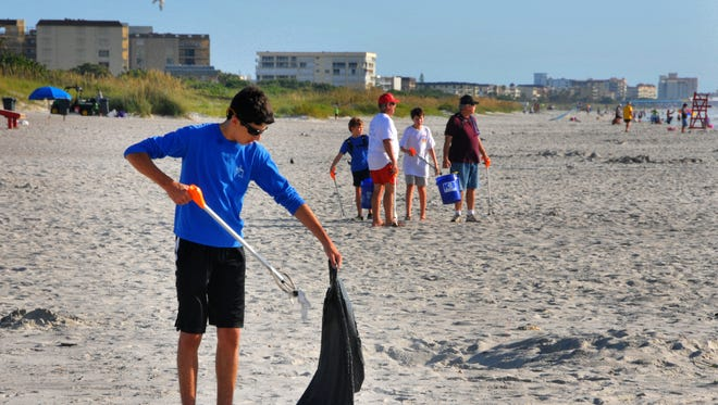 Keep Brevard Beautiful was out in force, cleaning up beaches and parks Tuesday morning, picking up trash and fireworks debris after the 4th of July weekend.  Laith Rukad from Melbourne volunteered to pick up trash at Lori Wilson Park.