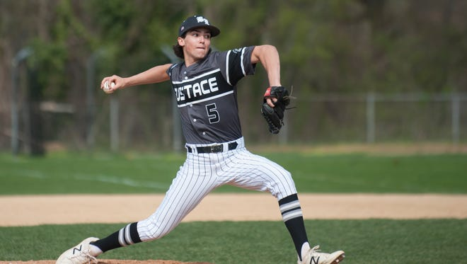 Bishop Eustace sophomore Matt Orlando scattered two hits and struck out six over four innings to lead the Crusaders over Paul VI on Thursday in an Olympic National game.