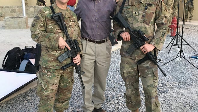 U.S. Rep. David Kustoff with Tennessee soldiers in Afghanistan, Thanksgiving 2017