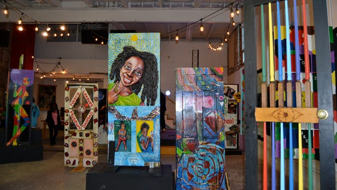 """The """"Mari Evans: Carl Pope"""" exhibit at the Tube Factory."""