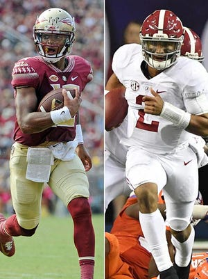 Deondre Francois, left, and Jalen Hurts, will be two elite QBs spotlighted in 2017.