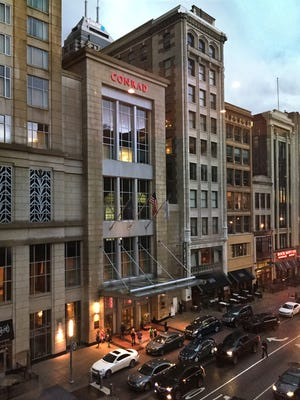 The 5,514-square-foot condo is on the 22nd floor of the Conrad Indianapolis hotel Downtown.