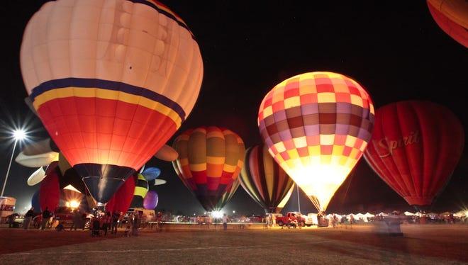 Balloon Spooktacular at Salt River Fields lights up the night sky.