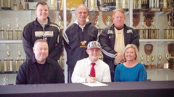 Hayesville senior Connor Thompson has signed to play college baseball for Lenoir-Rhyne.