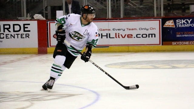 The SPHL has suspended the IceGators' Tyler Barr for the remainder of the 2015-16 season.
