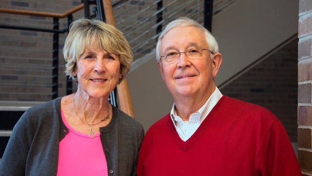 Jane, left, and Larry Richards have donated $25,000 to endow a scholarship for an Indiana University East tennis player.