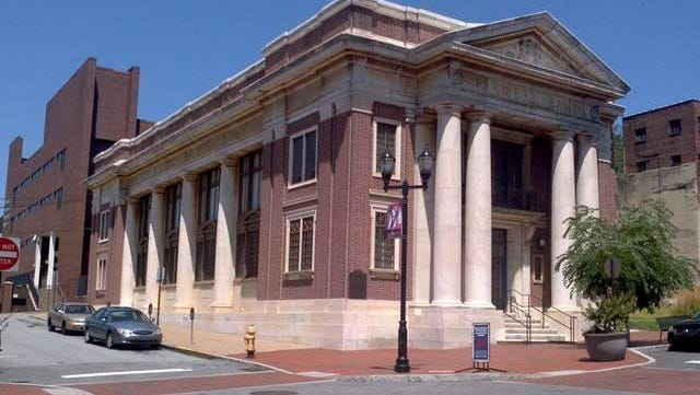 The old Farmers Bank building on North Market Street in Wilmington, Del.