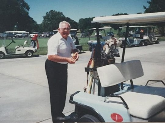 Bob Crouch on the golf course in the 1990s. Crouch was a 2-handicap golfer.