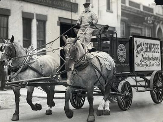 A Genesee Brewing wagon right before the end of Prohibition.