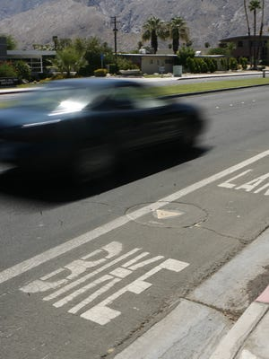 Reader discuss the plans to re-stripe Murray Canyon Drive in Palm Springs for bike lanes.