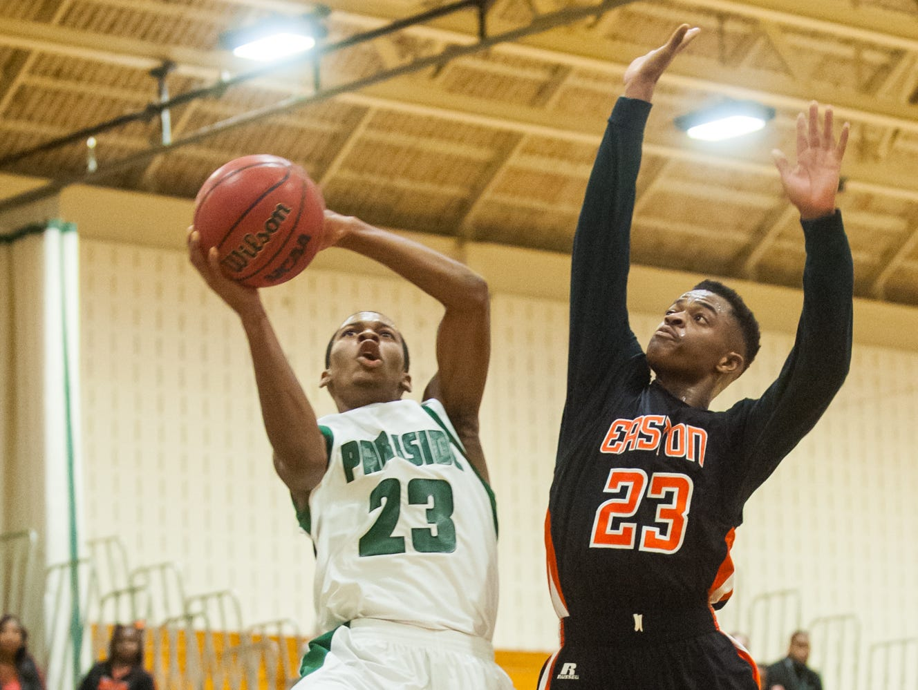 Parkside forward Juwan Williams takes a shot from the paint in the season opener against Easton on Friday night at Parkside.