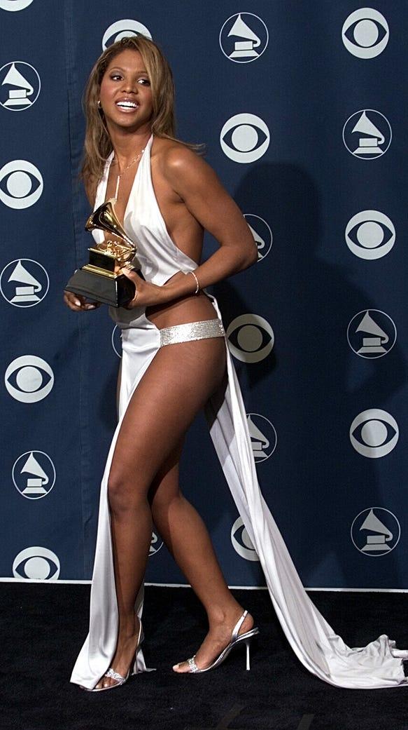 Toni braxton grammy dress