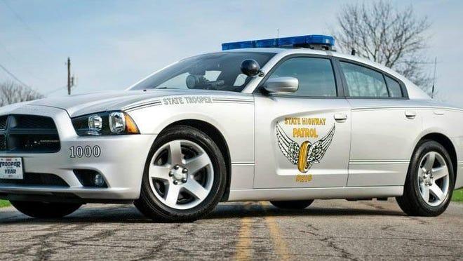 An Ohio State Highway Patrol cruiser.