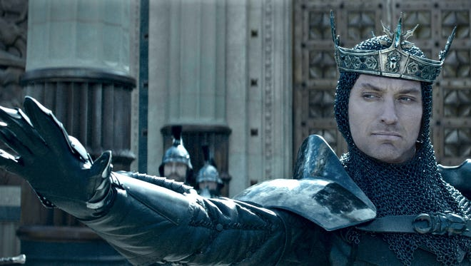 "Heavy is the head that wears the crown: Jude Law stars in ""King Arthur: Legend of the Sword."""
