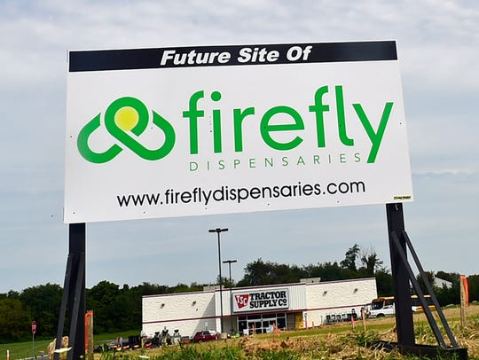 Firefly Dispensaries, photographed Tuesday, September 12, 2017, is to be built in the 1600 block of Lincoln Way East, Guilford Township. The sign has been removed.