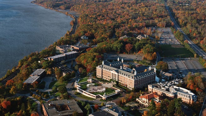 Aerial view of the Culinary Institute of America in Hyde Park.