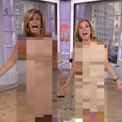 KLG and Hoda get naked. #AprilFools