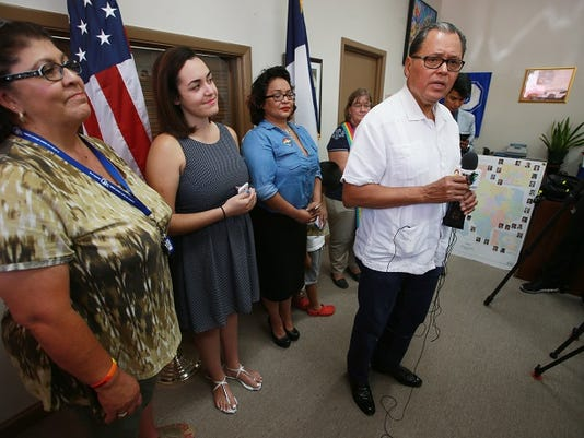State Sen. Jose Rodriguez spoke about the recent Supreme Court ruling about same-sex marriages on June 29 at his offices.