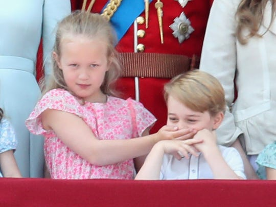 At the annual Trooping the Colour parade on June 9, 2018, Prince George and his cousin Savannah Phillips watched from the Buckingham Palace balcony, but Savannah thought he was talking too much.