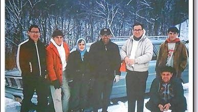 1968 hikers who explored the long abandoned creek roads of Boone County: Tom Schiffer, unidentified, Stuart Ferguson, Bruce Ferguson, Phil Schiffer, Al Martin and Mills Rouse