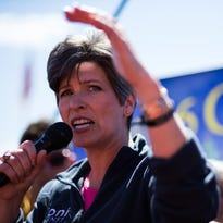 Sen. Joni Ernst, R-Iowa, vows to fight President Barack Obama's veto of her resolution to block new water rules.