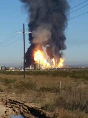 The explosion at Ramsey Plant is contained according to plant officials, but was initially a large blaze.