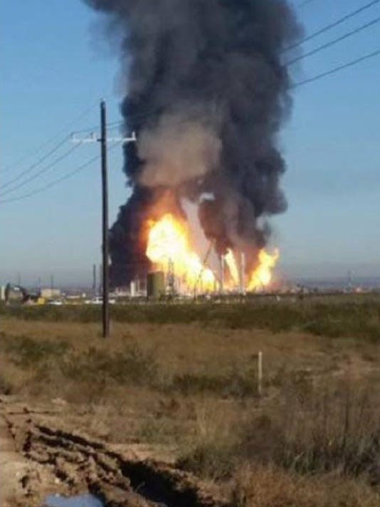 Fire at Ramsey Plant