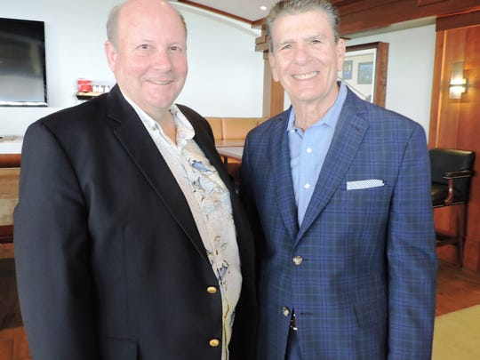 Rip Fisher and Jim Mondello at the luncheon benefit