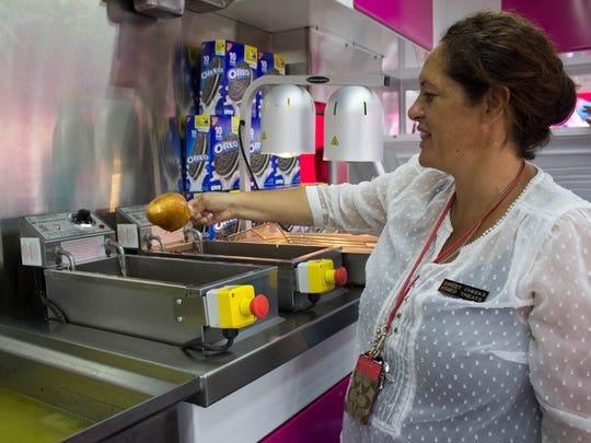 Jacqueline Bradbury, a longtime fair-food vendor, spends