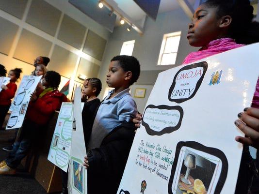 Children learn about Kwanza