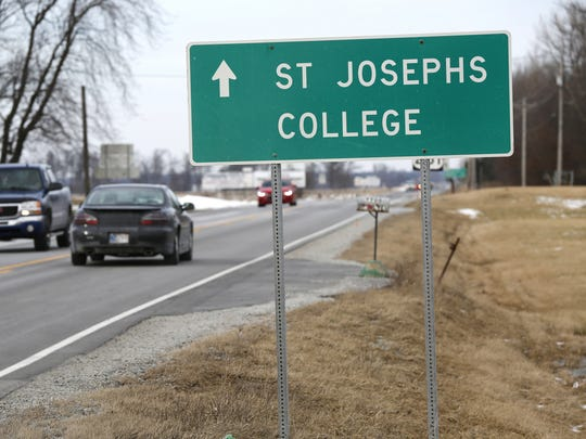 Signs point the way to Saint Joseph's College Friday,
