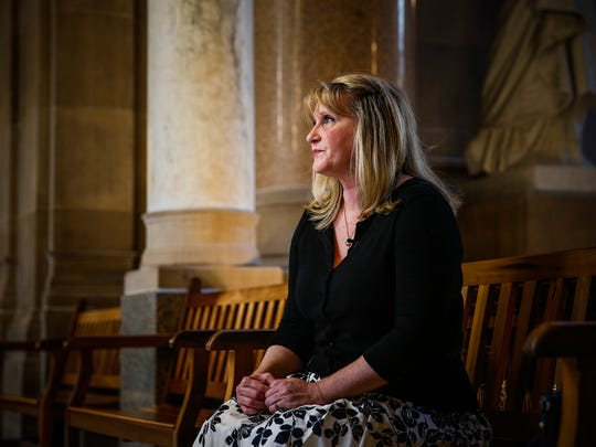 """""""It can happen to anyone,"""" Michelle Kuiper said while sitting on a bench inside the Indiana Statehouse on Tuesday, May 16, 2017. Kuiper, who was sexually assaulted when she was younger, is on a crusade to push for testing all sexual assault kits that are collected. She was one of the people involved in the Senate resolution that spurred Indiana State Police to agree to test all kits. """"I'd rather call it a dehumanizing crime because my offender dehumanized me,"""" she added. """"He overpowered me. He was stronger than me. He terrorized me. He strangled me. He made me fear that I was going to lose my life or do what he wanted to do."""""""