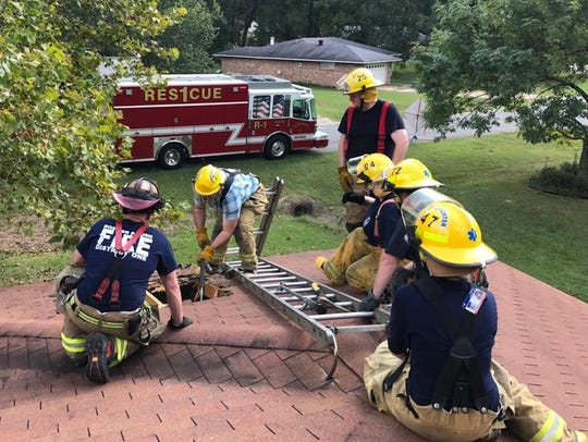 East Central Fire District 1 firefighters practice