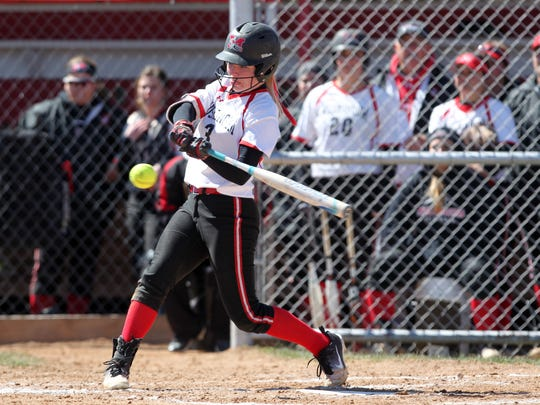 Licking Valley graduate Krissy Hughes is having an outstanding senior season for Muskingum. She recently was named Ohio Athletic Conference Softball Hitter of the Week.