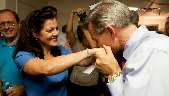 Rep. David  Schweikert, R-Ariz., said his wife Joyce, show here with him in an Aug. 24, 2010, photo, has made it clear that she does not want him to challenge incumbent Sen. John McCain, R-Ariz., in Arizona's 2016 Senate primary.