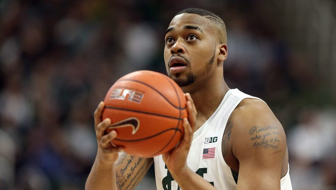 Michigan State forward Nick Ward prepares to shoot a free throw during the second half last month against Iowa at Breslin Center