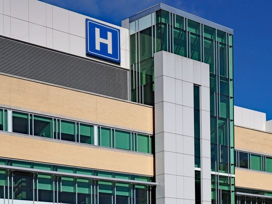 The exterior of a hospital building.
