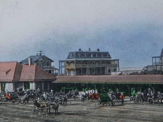 1902 Postcard Of Sea Bright Train Station